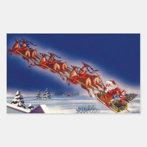 Santa en su trineo rectangular altavoces