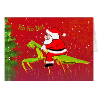 Santa en tarjeta de Navidad de encargo de la