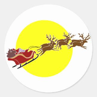 Santa en trineo pegatina