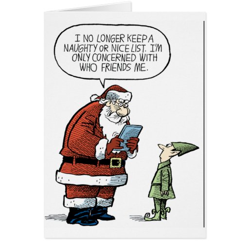 Santa Facebook Tarjeta