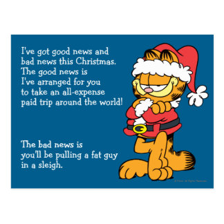 Santa Garfield Postal