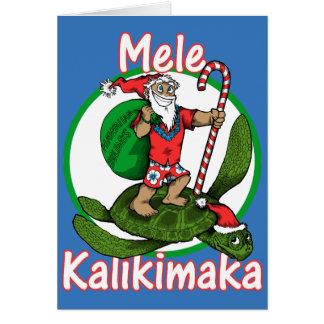 Santa hawaiano tarjeta de felicitación