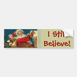 Santa I cree al pegatina enorme Pegatina De Parachoque