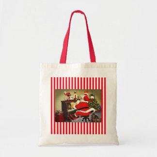 Santa la bolsa de asas del navidad del músico