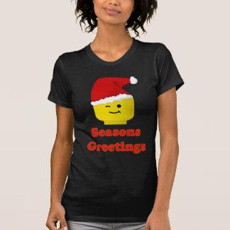 Santa Minifig sazona saludos Camiseta