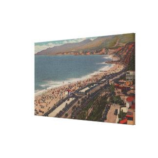 Santa Mónica, CA - playa Scen del condado de Los A Lona Estirada Galerias