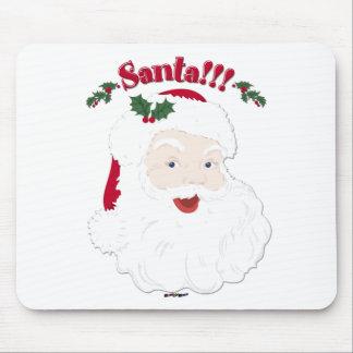 ¡Santa!! Navidad Santa del estilo del vintage Alfombrilla De Ratón