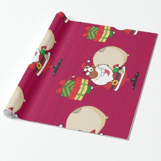 Santa negro con los regalos papel de regalo