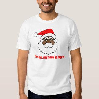 Santa negro, un saco más grande camisas