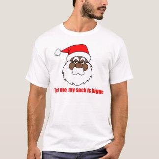 Santa negro, un saco más grande camiseta