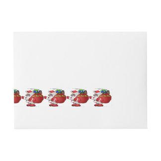 Santa negro Yo Ho Ho Ho BSYHH Pegatinas Postales