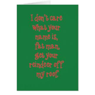 Santa no consigue ningún amor tarjeta de felicitación