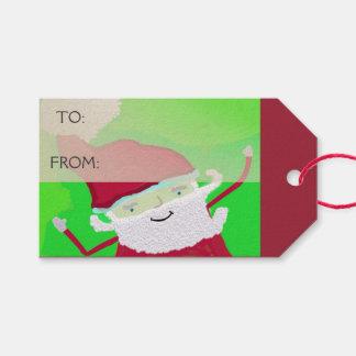 Santa + Personalice el texto Etiquetas Para Regalos