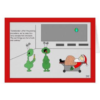 Santa por completo de la tarjeta de Navidad de la