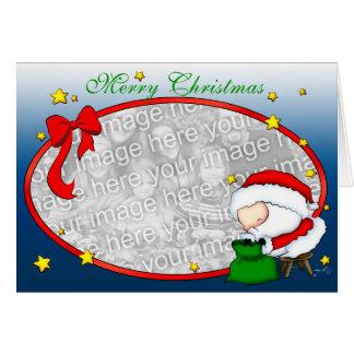 Santa presenta la plantilla tarjeta