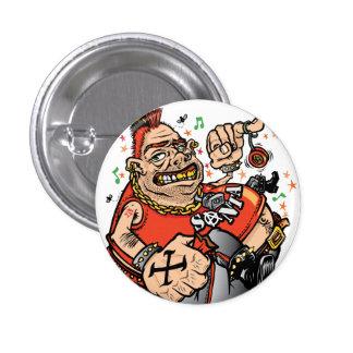 Santa punky chapa redonda de 2,5 cm