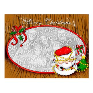 Santa que adorna la plantilla de la postal