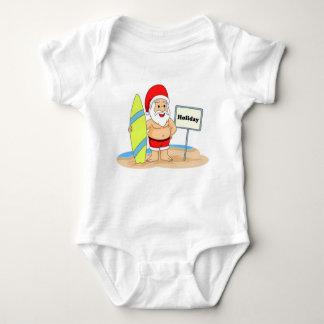 Santa que practica surf body para bebé