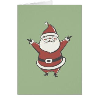 Santa retro tarjeta de felicitación