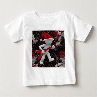 santa rockstar camiseta de bebé