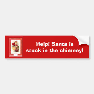 Santa se pegó en la chimenea pegatina para coche