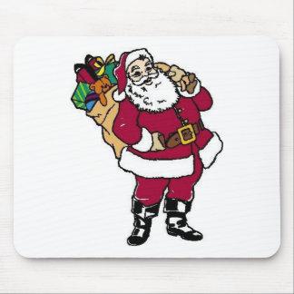 Santa sostiene los juguetes alfombrilla de ratón