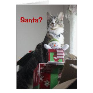 ¿Santa? Tarjeta De Felicitación