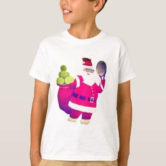 Santa trae pelotas de tenis camiseta
