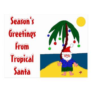 Santa tropical postal