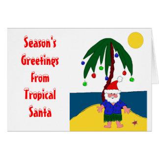 Santa tropical tarjeta de felicitación
