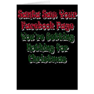 Santa vio su humor de la tarjeta de Navidad de la