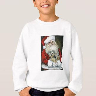 Santa y camiseta de los niños del arte del perro