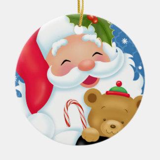 Santa y ornamento de Teddybear