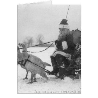 Santa y su reno de Turquía Tarjetón