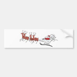 Santa y su trineo pegatina para coche