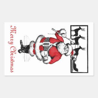 Santa y su trineo Sticer Etiquetas