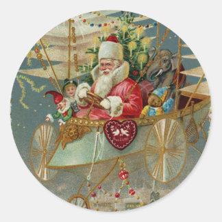 Santa y sus pegatinas asombrosos de la máquina de pegatina redonda