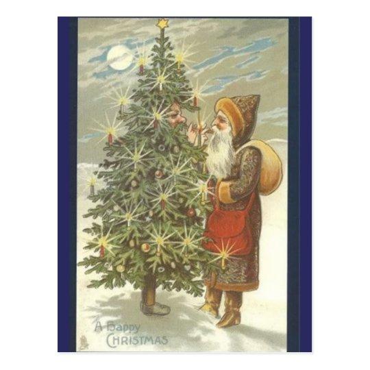 Santa y TreeMan Postal