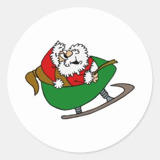 Santa y trineo etiqueta