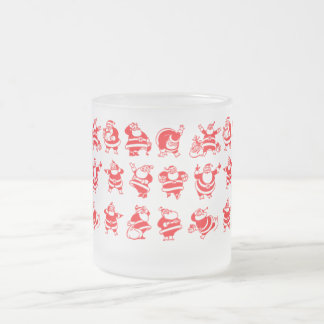 Santas retros taza de café esmerilada