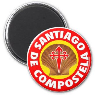 Santiago de Compostela Imán Redondo 5 Cm