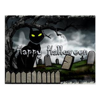 Santifica el cementerio Halloween Tarjeta Postal