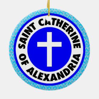 Santo Catherine de Alexandría Adorno De Cerámica