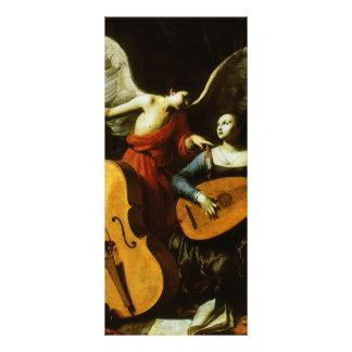 Santo Cecilia y el ángel de Carlo Saraceni Tarjetas Publicitarias A Todo Color