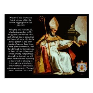 Santo Isidoro de Sevilla Postal