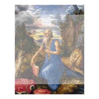 Santo Jerome en el desierto por Durer Tarjetón