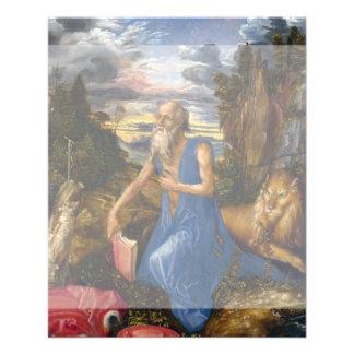 Santo Jerome en el desierto por Durer Flyer Personalizado