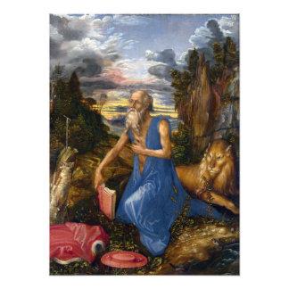 Santo Jerome en el desierto por Durer Arte Con Fotos