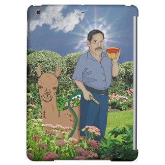 Santo Luis en el caso del iPad del jardín