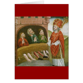 Santo Nicholas del navidad del vintage Tarjeta